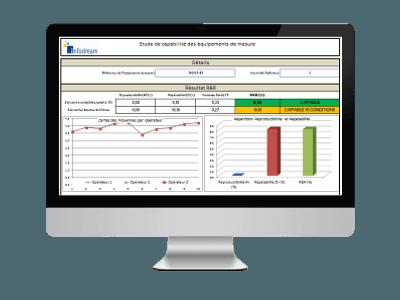 Le module R&R permet de calculer tous les indicateurs de répétabilité et reproductibilité demandés par les normes MSA et autres,